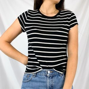 American Eagle Soft & Sexy Striped Crop T- Shirt S